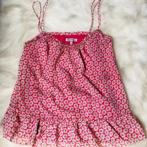 Authentic Juicy Couture pink floral cami top